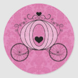 Royal Carriage Envelope Seal Round Sticker