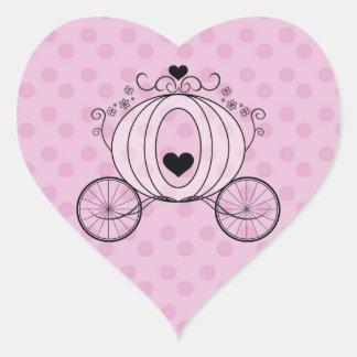Royal Carriage Envelope Seal Heart Sticker