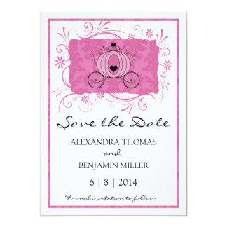 Royal Carriage Save the Date 13 Cm X 18 Cm Invitation Card