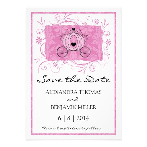 Royal Carriage Save the Date Invitations