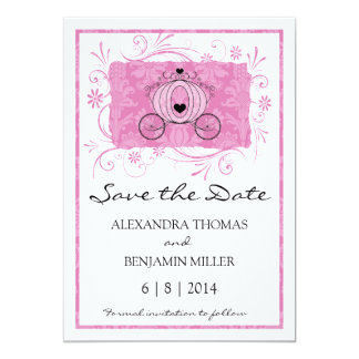 "Royal Carriage Save the Date 5"" X 7"" Invitation Card"