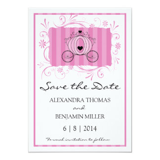 Royal Carriage Save the Date Personalized Invite