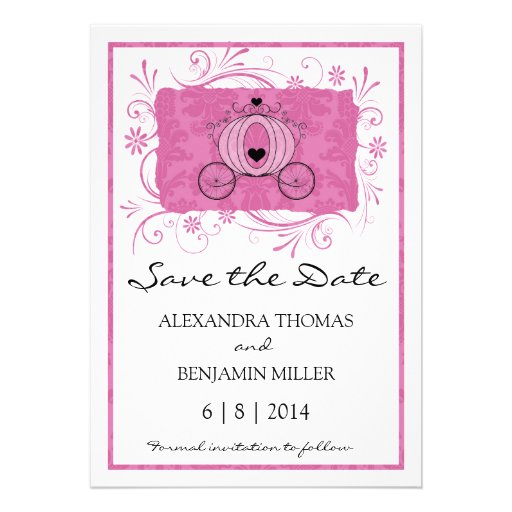 Royal Carriage Save the Date Personalized Announcements