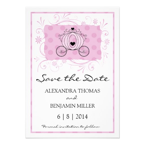Royal Carriage Save the Date Announcement