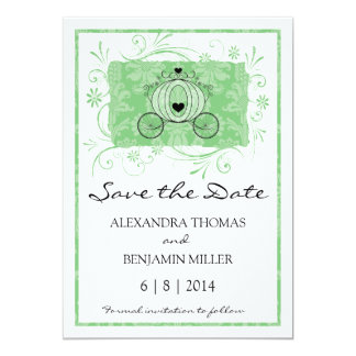 Royal Carriage Save the Date Personalized Invitations