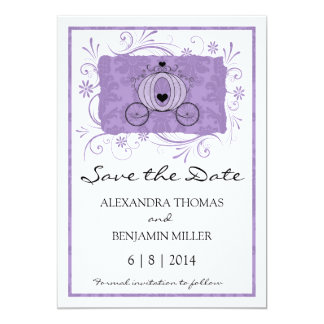Royal Carriage Save the Date Custom Announcement