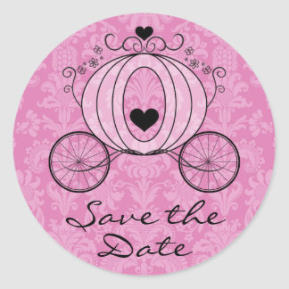 Royal Carriage Save the Date Seal Round Sticker