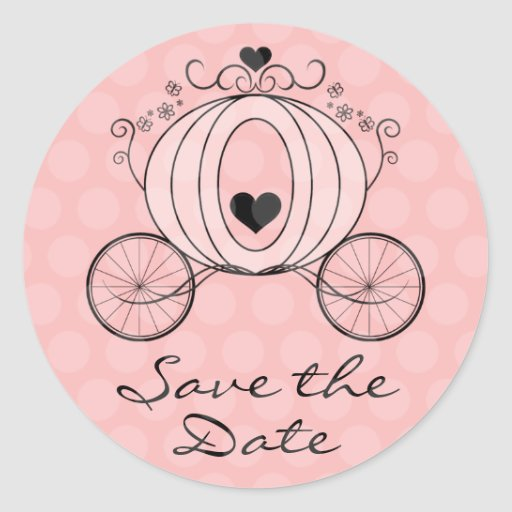 Royal Carriage Save the Date Seal Sticker