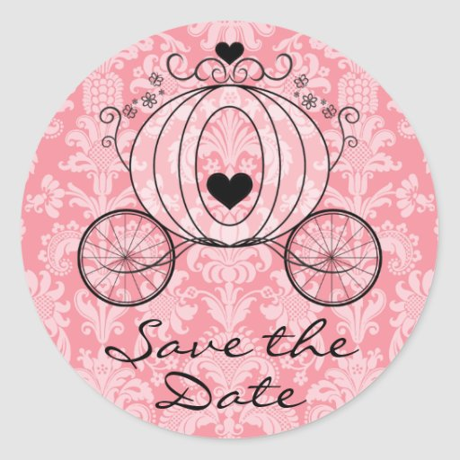 Royal Carriage Save the Date Seal Stickers