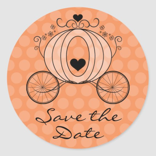 Royal Carriage Save the Date Seal Round Stickers