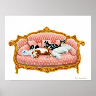 Royal Cat Nap Print