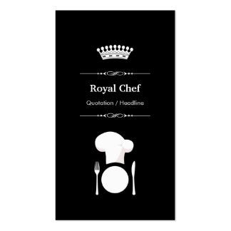Royal Chef - Professional Modern Black White Pack Of Standard Business Cards