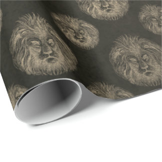 Royal Chic Champaign Gold Black Lions Club VIP Wrapping Paper