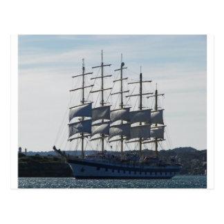Royal Clipper Under Sail Postcard