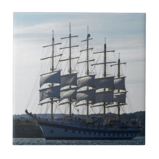 Royal Clipper Under Sail Small Square Tile
