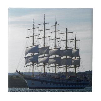 Royal Clipper Under Sail Small Square Tile