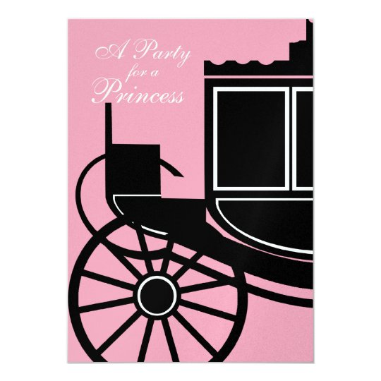 Royal Coach/ Birthday Party Card