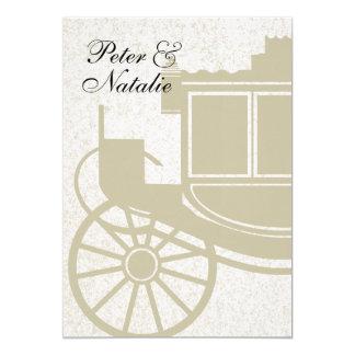 Royal Coach/ Party 13 Cm X 18 Cm Invitation Card
