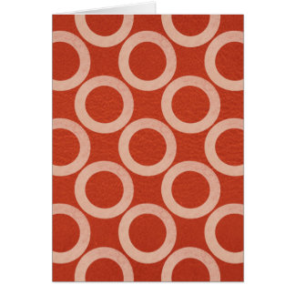 ROYAL Color Circles : Gold n Rich Red Energy Greeting Card