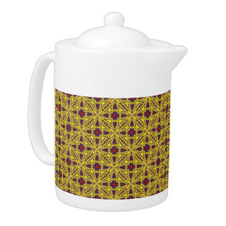Royal Colorful  Kaleidoscope  Teapots