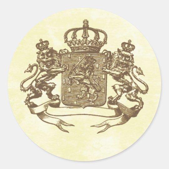 Royal Crest Classic Round Sticker