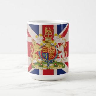 Royal Crest on the Union Jack Flag Mugs