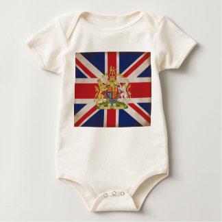 Royal Crest on Union Jack. Baby Bodysuit
