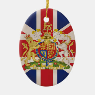 Royal Crest on Union Jack. Christmas Ornament