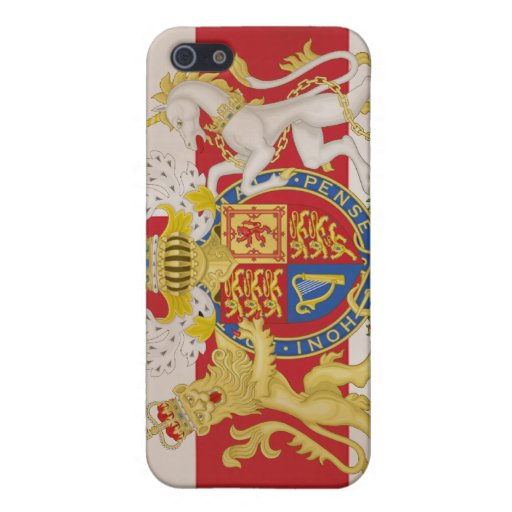Royal Crest on Union Jack Flag Case For iPhone 5