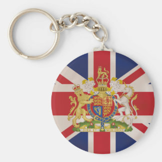 Royal Crest on Union Jack Flag Key Ring