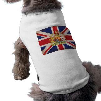 Royal Crest on Union Jack. Sleeveless Dog Shirt