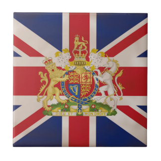 Royal Crest on Union Jack. Tile