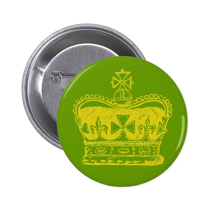 Royal Crown 6 Cm Round Badge