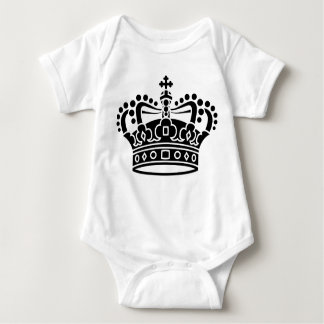Royal Crown - Black Baby Bodysuit