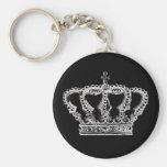Royal Crown [Dark] Basic Round Button Key Ring