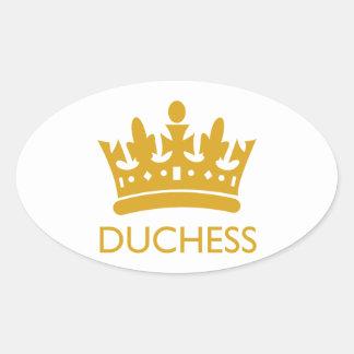 Royal Crown Duchess Gold Range Hikingduck Oval Sticker