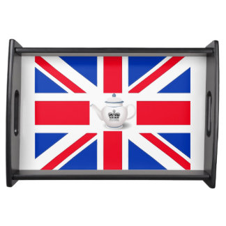 Royal Crown English Teapot Union Jack Tray