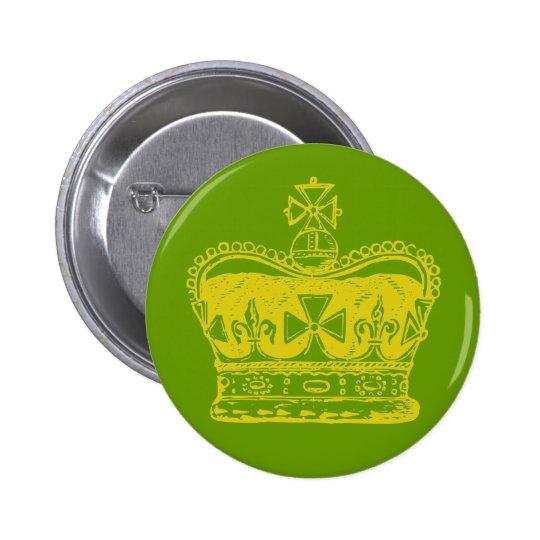 Royal Crown Graphic 6 Cm Round Badge