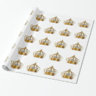 Royal Crown Jewel Wrapping Paper
