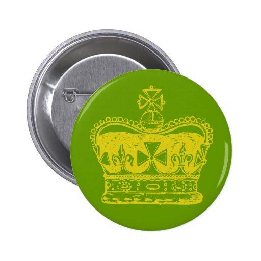 Royal Crown Pinback Buttons