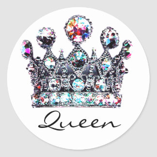 Royal Crown Queen stickers