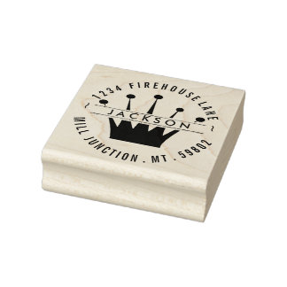 Royal Crown Return Address Stamp