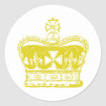 Royal Crown Round Stickers