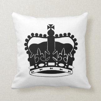 Royal Crown silhouette pillow Queen Elizabeth II Cushions