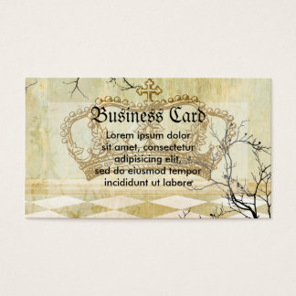 Royal Crown with Branches Business Card