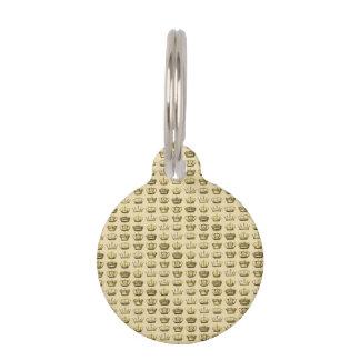 Royal Crowns of Gold Pet Name Tag