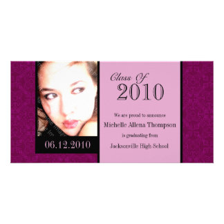 Royal Damask Graduation Announcement Photo Cards