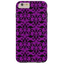 Royal Damask, Ornaments, Swirls - Purple Black