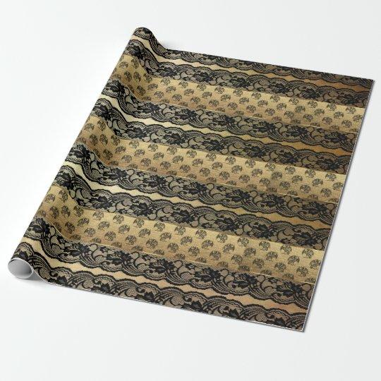 Royal Dragon Golden Black Lace Heraldic Vip Wrapping