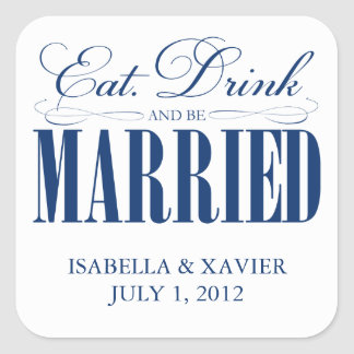 Royal Eat, Drink & Be Married   Stickers